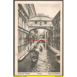 AK - Venezia - The Bridge of Sighs (Italien)