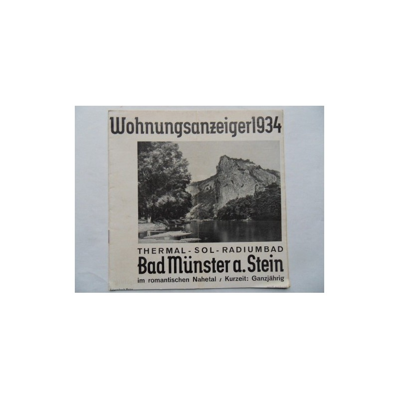 Prospekt Bad Münster am Stein - 1934 (RP)